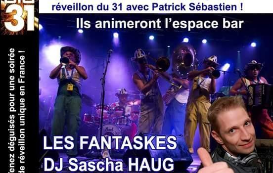 Les Fantaskes et Sascha HAUG animent l'espace accueil du Zénith !